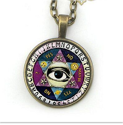 Ouija Board Cabochon Illuminati All Seeing Pendant Necklace