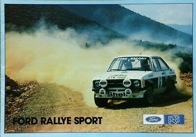 Ford Escort RS Mexico & RS 2000 Sales Brochure - October 1977