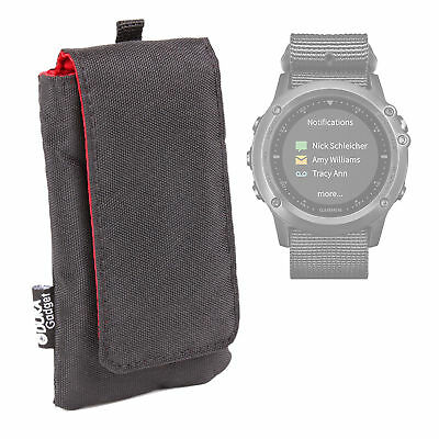 Black Cushioned Case/Pouch For Garmin Fenix 3 and Tactix Bravo GPS Smartwatches