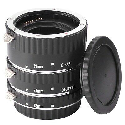 Metal Mount Auto Focus AF Macro Extension Tube for Canon Rebel T5i T4i T3i DC373