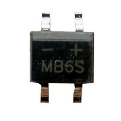 50Pcs MB6S 0.5A 600V Miniature Mini SMD Bridge Rectifier