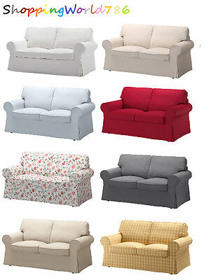 EKTORP Cover two-seat sofa in 8 COLORS RED/BEIGE/WHITE/GREY/MULTI/BLUE