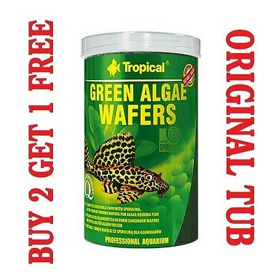 GREEN ALGAE WAFERS 100% Vegetable Sinking Wafers with Spirulina - 250ml/113g,