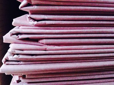 "10 Dusty Pink Dusky Mauve Biodegradable Tissue Paper Sheets Gift Wrap (30x20"")"