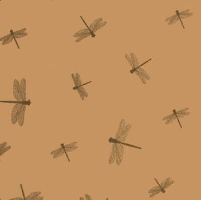 Dragonflies Kraft Brown Tissue Gift Wrap Wrapping Paper Colourfast Vintage Decor