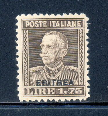 Eritrea 107A mlh with Eritrea overprint on 1,75 Lire Italian stamp