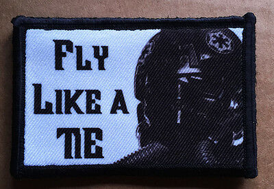 Star Wars Tie Fighter Morale Patch Tactical Military USA Hook Badge Army Flag