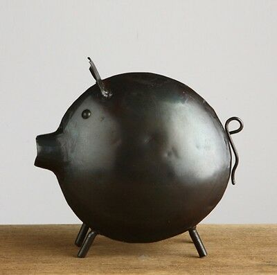 Pig Metal Figurine Decor Table/Shelf Doll Animal Handmade Art