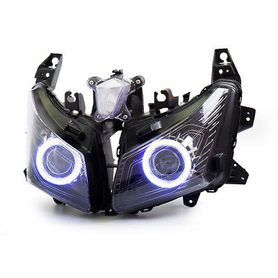 Angel Eyes Projector Kit For Yamaha TMAX 530 2012-2014 Headlight Assembly 55W