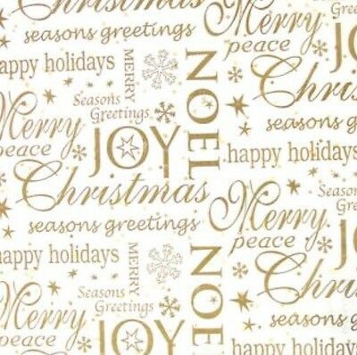 Noel Christmas Gift Wrap Wrapping Paper Tissue Decorations Decor White Gold Xmas