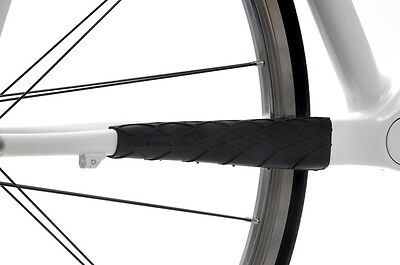 Twowheelcool : Bicycle - Wrapper Chainstay Guard Protector - Black - Classic