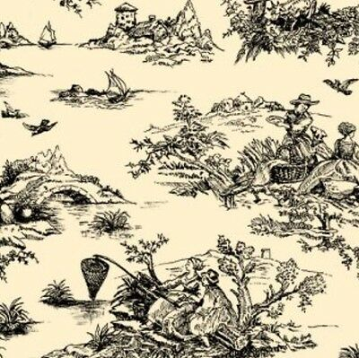 Black Toile On Oatmeal Gift Wrap Wrapping Paper Tissue Sheets Decorations Decor
