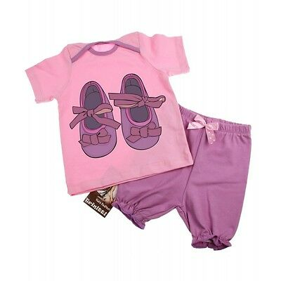 Baby Girl short sleeve cotton T-Shirt and Shorts Set - Age NB up to 9 months