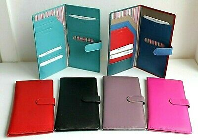 Leather Travel Passport Document Holder Wallet * 4 colours