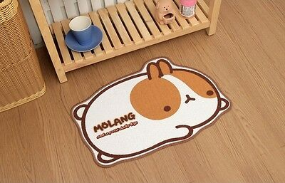 Molang Lovely Cute rabbit Bunny Character Indoor Mat (brown)