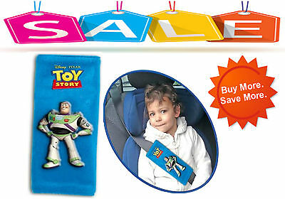 TOY STORY BUZZ Car Safety Seat Belt Cover Baby Stroller Shoulder Cushion Pads