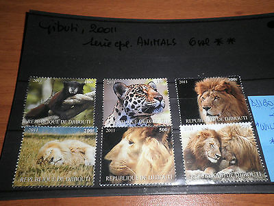 "Francobolli Stamps Djibouti 2011 ""wild Animals"" Mnh** Set (Cat.5A)"