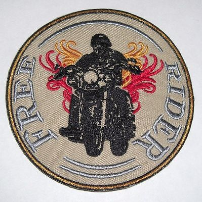 Free Rider - Sew On Biker Motorcycle Patch