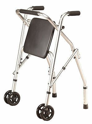 Walker with Seat XL, Silver