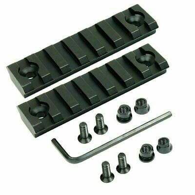 2 PCS Keymod 7 Slot Picatinny / Weaver Rail Haindgaurd 3 Inch Section Aluminum