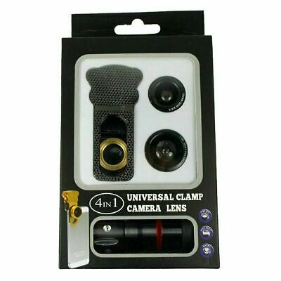 4in1 10x Zoom Telephoto + Fish Eye + Wide Angle + Macro Clip Lens iPhone 6S 5s
