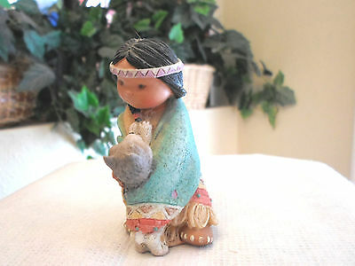 """Friends of the Feather """"Dances with Wolf"""" Figurine - Enesco"""