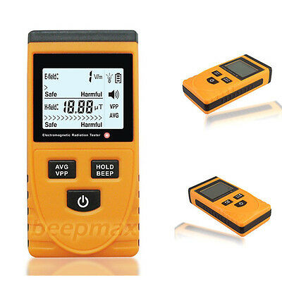 Digital LCD Electromagnetic Radiation Detector EMF Meter Tester + Battery