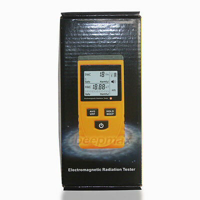 Digital LCD Electromagnetic Radiation Detector Meter Dosimeter Tester uk stock