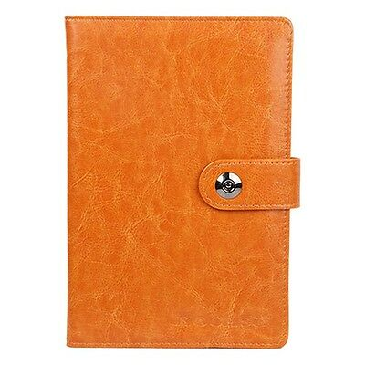 Premium Leather Blank Journals Memopad Notebook With Calendar World Map