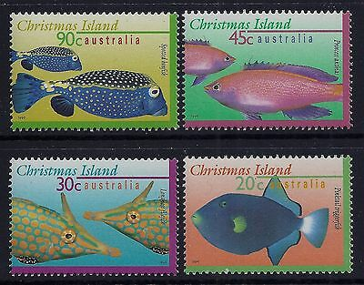 1996 Christmas Island Marine Life Part Ii Set Of 4 Fine Mint Mnh/muh