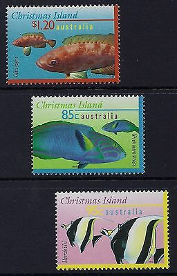 1997 Christmas Island Marine Life Part Iii Set Of 3 Fine Mint Mnh/muh