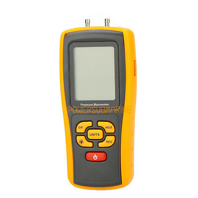 Digital Handheld Differential Pressure Meter Manometer 10KPa USB GM510 ±1.45Psi