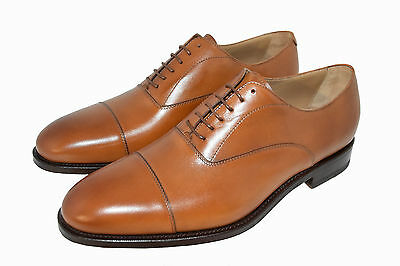 Man-Oxford Captoe-Francesina-Calf Tan-Vitello Col.cuoio-Leather Sole-Suola Cuoio