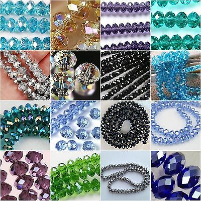 Faceted Crystal Swarovski Loose Glass Beads Jewelry 6mm 8mm