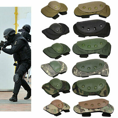 4Pcs Airsoft Paintball Combat Skate Protective Knee + Elbow Pad Gear Sport AU