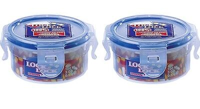 x2 Lock & Lock Round Container 100ml  Herb and Spices Small Compact Plastic