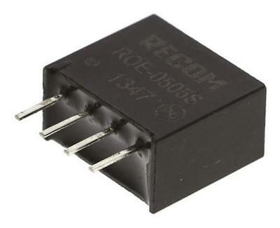 1 x Recom ROE-0505S 1W Isolated DC-DC Converter Vin 4.5-5.5V DC Vout 5V@200mA DC