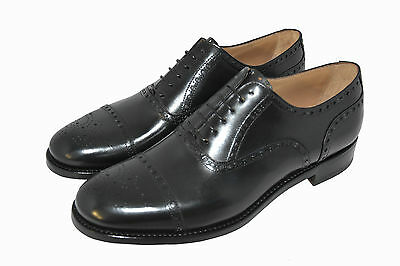 Man-Oxford Captoe-Francesina-Calf Black-Vitello Nero-Leather Sole-Suola Cuoio