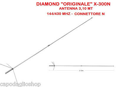Diamond X-300N Antenna bibanda 144/430 MHz da base