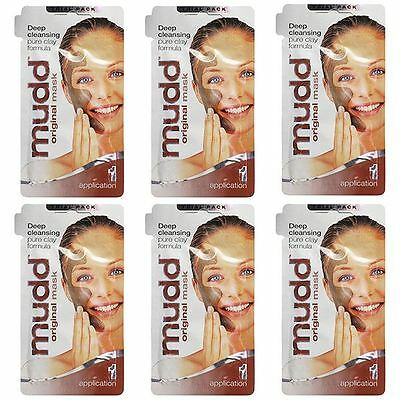 Mudd Original Mask Deep Cleansing Clay Formula 10ml 1 Application - 6 Pack