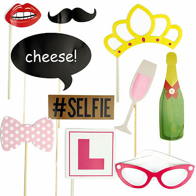 10Pc New Photography Hen Party Photo Booth Props Kit Party Games Accessories