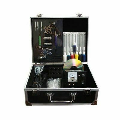 Full Professional Tattoo Kits: Power/Guns/Needles/Tips/Pedal/Accessories/Case