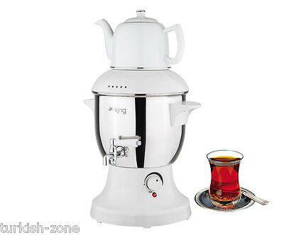 Turkish Electric Teapot Tea Maker Machine Kettle Caydanlik Semaver SAMOVAR