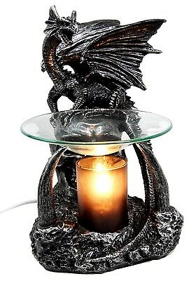 "8.5""H Gothic Dragon Electric Oil Warmer Wax Tart Burner Aromatherapy Figurine"