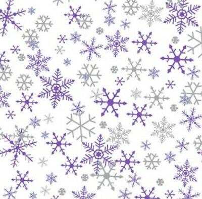 Purple Silver Christmas Snowflakes Gift Wrapping Tissue Paper Winter Wonderland