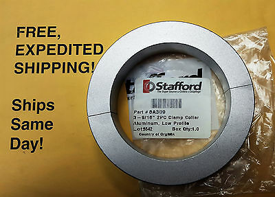 "Stafford 8A309 Shaft Collar, Clamp, 2pc, 3 9/16""; Aluminum; FREE SHIPPING!"