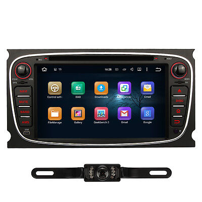 "Camera + 7"" Sat Navi Android 5.1 For Ford Focus Mondeo Car DVD GPS 3G WIFI DAB+"