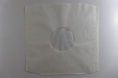 """50 x 12"""" Polylined White Paper Record Sleeves. Free P&P"""