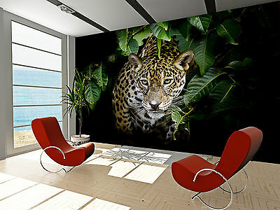 Photo Wallpaper Jaguar Portrait GIANT WALL DECOR PAPER POSTER FOR BEDROOM