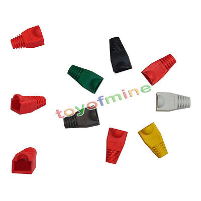 50X MODULAR RJ45 Network Cable Connector Plug Boot Strain Cover Caps ...